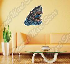 "Shark Eating Ship Ocean Beast Creature Sea Wall Sticker Interior Decor 20""X25"""