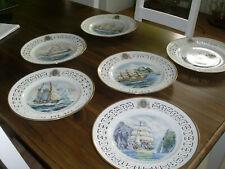 "6 sammelteller ""windjammer Collection"" Royal Copenhagen James Mitchell"