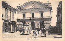 8941) FOGGIA TEATRO DAUNO CARRO E PASSANTI VIAGGIATA NEL 1922.