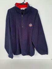 Vintage Nautica Competition Quarter Zip Sweatshirt Men Size Large navy blue 90s