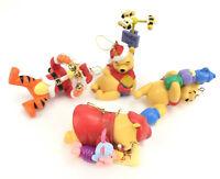 VTG Disney Christmas Tree Plastic Ornaments Winnie The Pooh Tigger Lot Set Of 4