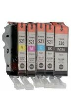5x Genuine Canon Ink Cartridges PGI-520+CLI-521 For MP640,MP630,MP980,MX860