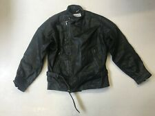 Polo Mens Vintage Leather Motorbike Jacket Black Label 48  (mc1034)