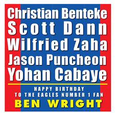 Crystal Palace Personalizzato Compleanno Card-Tipografia