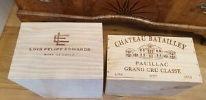 WOODEN WINE CRATE BOXES: WORK CHRISTMAS HAMPER GIFT BOX PRESENT..