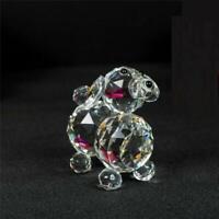 Puppy Dog Crystal Cut & Swarovski Element Inside Base with Gift Box Brand New_UK