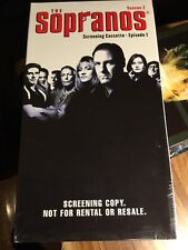 Sopranos- VHS Sealed - Screening Sealed Copy- Season 2 - Episode 1