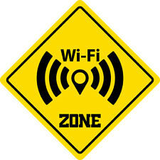 """*Aluminum* Wifi Zone Funny Metal Novelty Sign 12""""x12"""""""