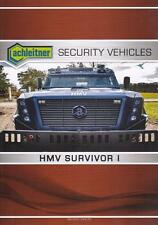 ACHLEITNER HMV SURVIVOR I 2016 4x4 MILITARY BROCHURE PROSPEKT FOLDER