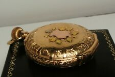 Antique 1904 Elgin 14k Solid Gold Multicolor Full Hunter Case Pocket Watch