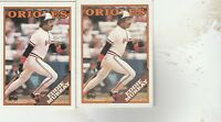 FREE SHIPPING-MINT-1988 (ORIOLES) Topps #495 Eddie Murray-2 CARDS