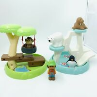 ELC Happyland Zoo and Animals Toy Bundle Monkey & Bear Enclosures Free P&P