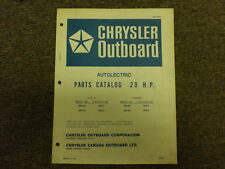 1971 Chrysler Outboard 20 HP Parts Catalog Autolectric HD H BD B