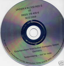 U2 Under A Blood Red Sky 2008 German promo CD test pressing