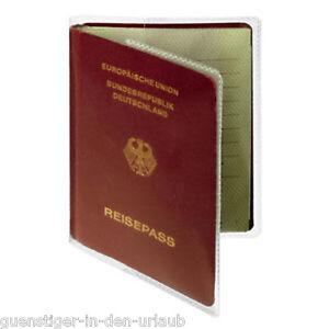 DURABLE Ausweishhülle Reisepasshülle Schutzhülle transparent Hülle Schoner