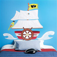 WALLIES PIRATE SHIP vinyl wall stickers bedroom decor MURAL 7 decals headboard