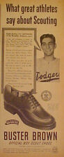 19 50Ralph Branca Brooklyn Dodgers MLB Baseball Shoes Promo Trade Print Ad
