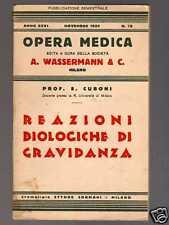 REAZIONI BIOLOGICHE DI GRAVIDANZA di E. Cuboni