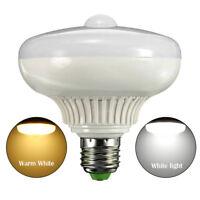 E27 12W Auto Body Motion Sensor LED Infrared Light Bulb Energy Saving Night Lamp