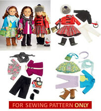 SALE! SEWING PATTERN! MAKE DOLL CLOTHES! FITS AMERICAN GIRL! MIX~MATCH OUTFITS!