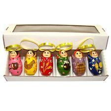Décoration Sapin de Noël - Suspension en bois pour sapin Noel - Poupées russes