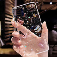 Bling Glitter Planet Clear Case Cover For iPhone 12 Pro Max 11 12 Mini XS XR 7 8