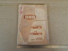CATALOGO ORIGINALE RICAMBI CARROZZERIA PER FIAT 1100  L - 1100L
