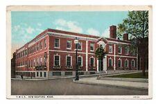 1928 CurTeich YWCA New Bedford Massachusetts MA Postcard Red Washington 2c Stamp