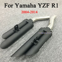 For Yamaha YZF R1 2004-2014 Exhaust System Connecting Mid Pipe + Muffler Pipe