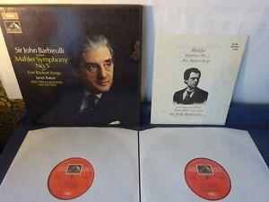 ED1 MAHLER: SYMPHONY NO 5 etc 2LP BOX, New Philharmonia, Barbirolli, EMI SLS 785