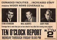 1967 TV AD~STAN ATKINSON~MAL ALBERTS~GARY PARK~KTVU NEWS in SAN FRANCISCO