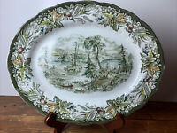 "Ridgway Heritage ""scene Among The Thousand Isles"" 9.5""x12"" Oval Platter"