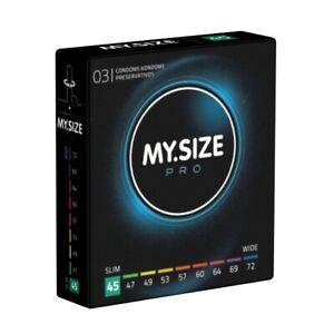 Frei Haus: My.Size PRO 45mm - 3 enge Kondome nach Maß, Maßkondome, Größe 45, XXS