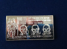 1971 Kennedy Mint First Lunar Landing KEN-39V Silver Art Bar P1740