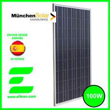 Placa solar panel  100 Wp 12V MUNCHEN. Modulo fotovoltaico. EFITRÓN.