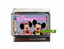 Disney World Sign w/ Mickey & Minnie Mouse Custom Italian Charm So cute!