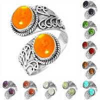 925 Sterling Silver Gemstone Ring Women Jewelry Size 5 6 7 8 9 10 11 12 13 Zt260