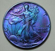 1988 American Eagle Dollar 1 Oz.999 Fine Silver Coin,Toned Bullion, No Reserve!