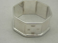STERLING SILVER OCTAGONAL SHAPED NAPKIN RING