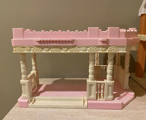 Playskool Victorian Dollhouse Addition Pink & White Front Porch & Sun Deck