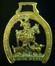 Vintage John Peel Huntsman w/Hounds Harness Horse Brass Foxhunt Wow Your Walls!