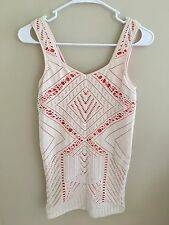 Intimately Free People Bodycon White Stretchy Cut Out Dress Womens M/L