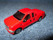 REALTOY FORD F-SERIES PICKUP TRUCK FORD F-350 RED 1:64 DIECAST - NICE