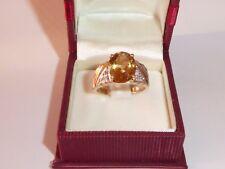 Amarillo Diamante Citrino Anillo Oro Amarillo de 333 8K Oro 60 (19,1 mm Ø ) 568