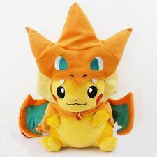 Pokemon 9'' Pikachu With Charizard hat Plush Soft Toy Stuffed Animal Doll New
