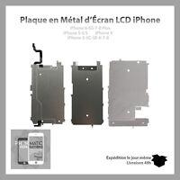 PLAQUE METALLIQUE ARRIERE ECRAN RALLONGE HOME iPHONE 5/5C/5S SE 6 6S 7 8 X PLUS