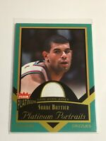 F58529  2002-03 Fleer Platinum Portraits Game Worn Jerseys #SB Shane Battier