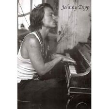 JOHNNY DEPP Poster  - Smoking Full Size 24x36 ~ Classic B&W Piano
