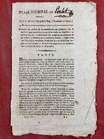 Rare Journal de la Révolution Française 1796 Debray Buzot Louvet Granet Tours