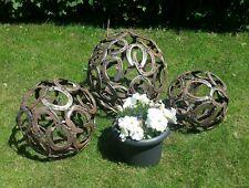 Hufeisenkugel Hufeisen Kugel 40 cm Deko,Garten,Edelrost,Shabby,Kugel
